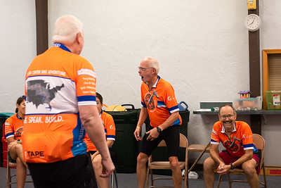 The Fuller Center Bike Adventure kicked off it's four-week West Coast ride on July 10, 2021, with a 44-mile ride from Seattle to Tacoma. The team started the morning with an orientation meeting and some get to know you games. (Megan Beth Media)