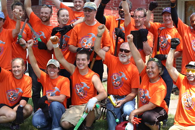 2014 riders during a build day in Gary, Indiana.