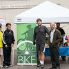 The county court crew along with John Case, who along with his wife Georgia, were responsible for starting the Long Beach Bikestation.