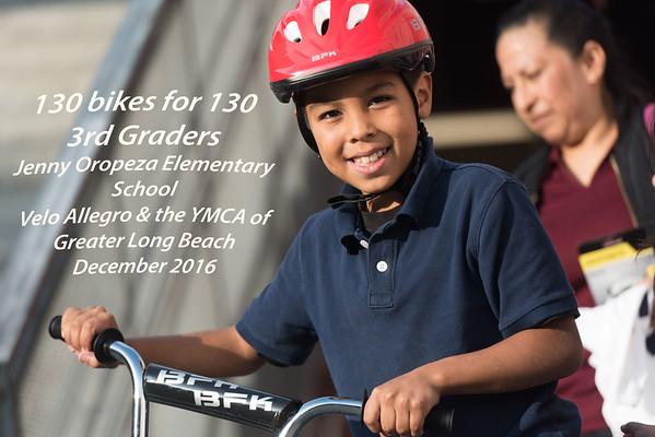 Bikes for kids 2016 - Jenny Oropeza Elementary