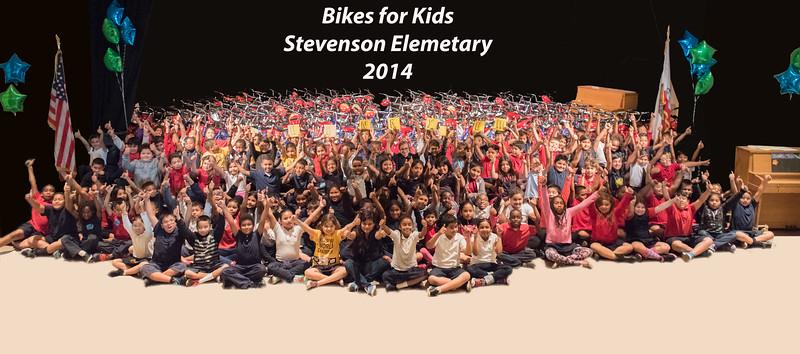 Bikes for kids at Stevenson Elementary