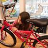 Kids building bikes for kids...