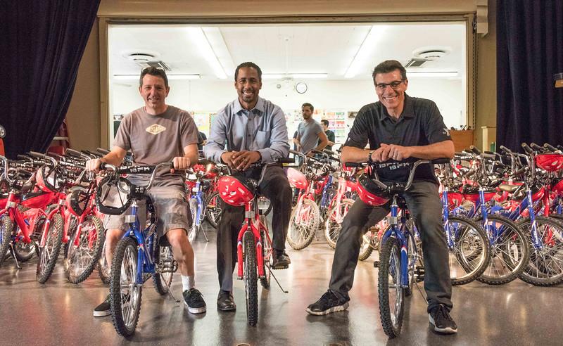 Bikes for kids...building bikes at Stevenson Elementary