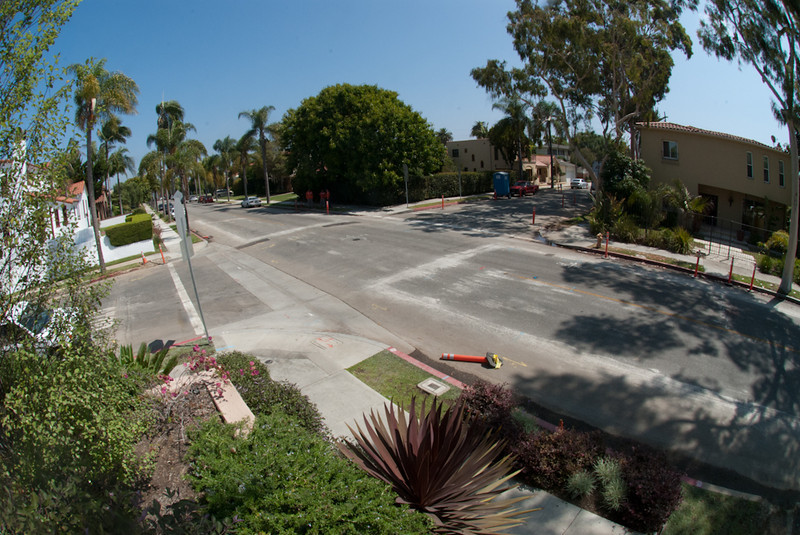 The intersection of Park and Vista before putting in the roundabout