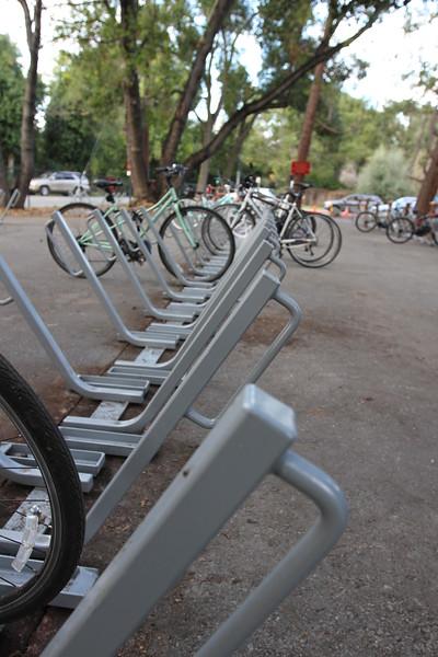 Bike Rack Ribbon Cutting