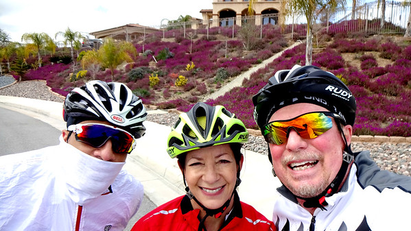 Bike Ride Practice with Ines and Jason, Highland-Redlands CA March 9, 2019