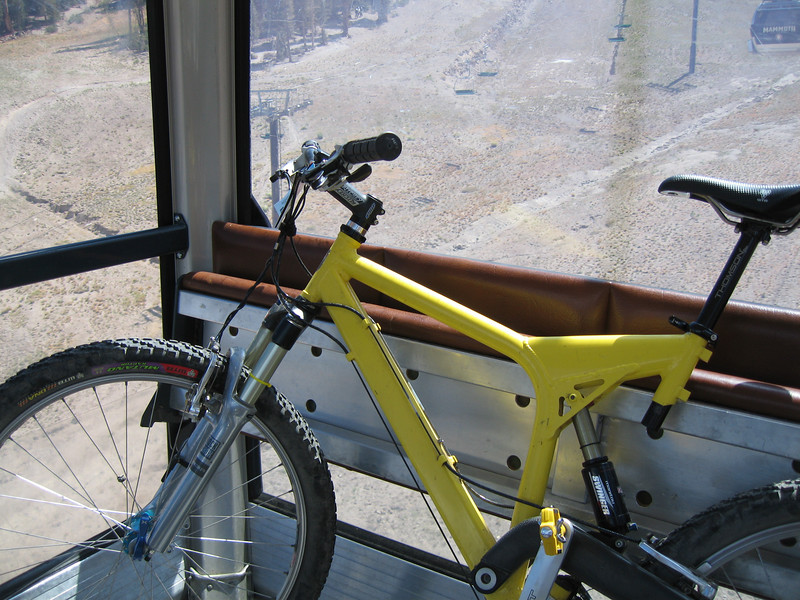 My bike in the gondola.