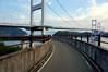 Bike entry way to Kurushima-Kaikyo Bridge