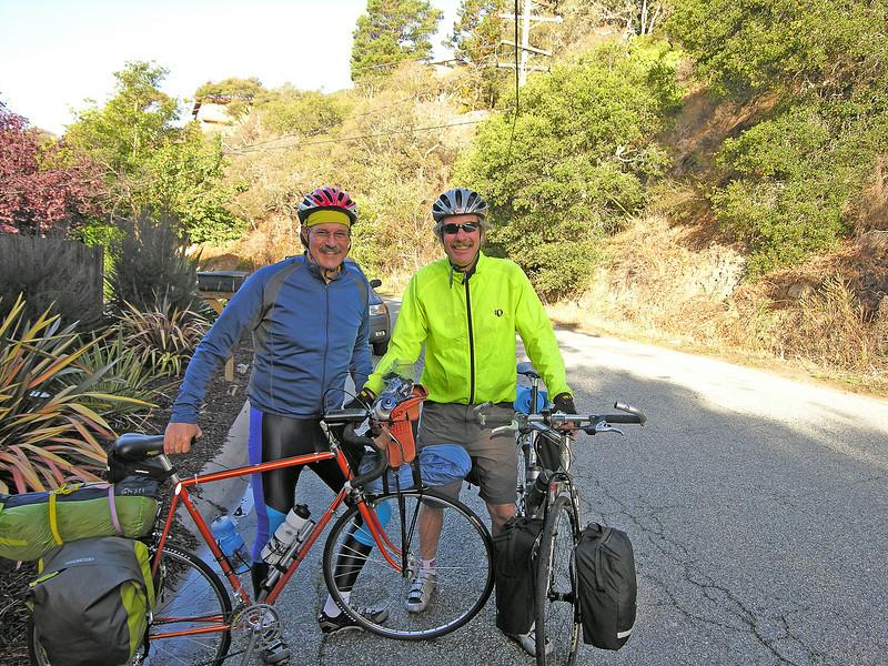 Kai & Bob at start in Carmel
