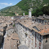 View of Gubbio from upper windows of Palazza dei Consoli