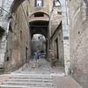 Narrow streets of Perugia