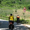 Typicla day - at least 5 climbs of 20%. This one was gravel.