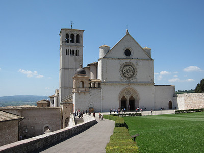 St Francis Basillica upper entry, Assisi
