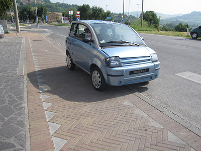 Smallest car on the trip - if you laid a quarter next to it for scale, it would be as large as the front tire