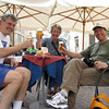 Sidewalk cafe - Bob, Kai & Tom