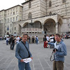 Piazza IV November - Main plaza in Perugia - Tom and Kai