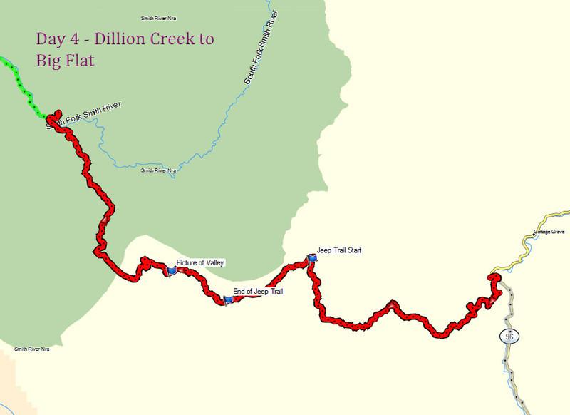 Day 4 - Dillion Creek to  Big Flat