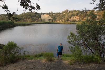 Water at last - filling up at Coit Lake
