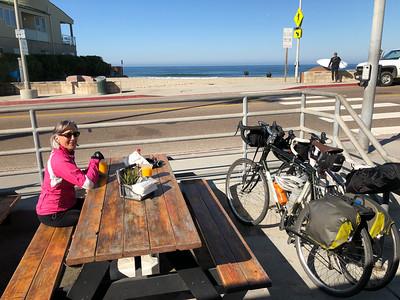 Breakfast at  The Buccaneer Cafe - beachside surfer spot