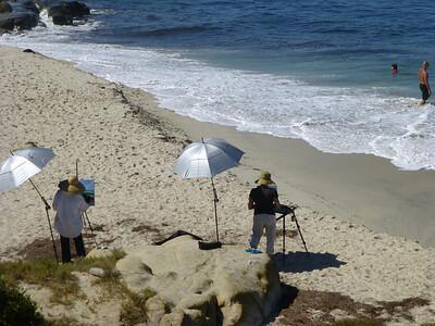 Painting shoreline LJ Coast 120818 P2500736