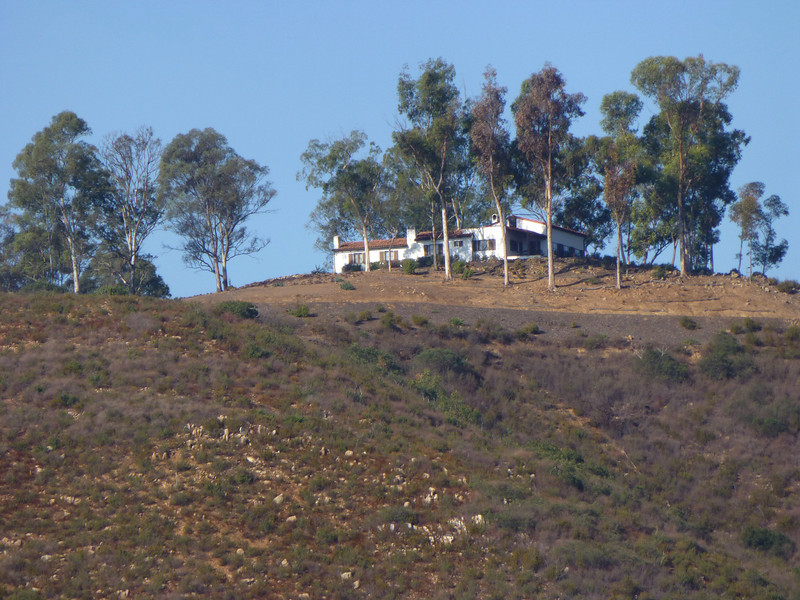 House on hill above Lake Hodges 121013 P2510255