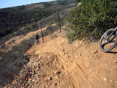 Jen rounding fence STR ride Penasquitos E 071124 P1160629