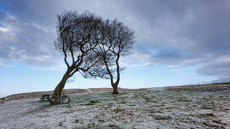 Cleeve Common with a dusting of snow