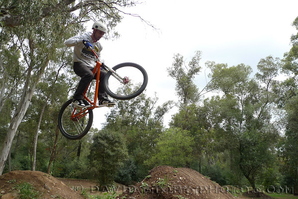 Dirt jumps in Parque Florestal de Monsanto, Lisbon, Portugal.