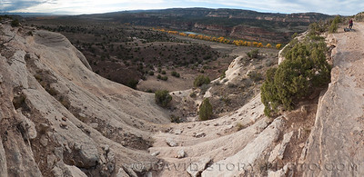 Mary's Loop looking down to the Colorado River.
