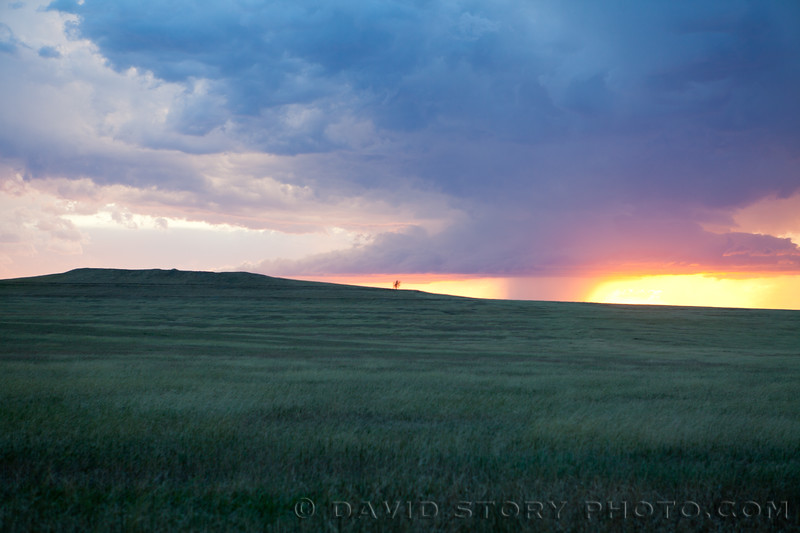 2010 09 09: A thunderhead on the horizon turned the night into a display of lightning strikes near Chadron, NE.