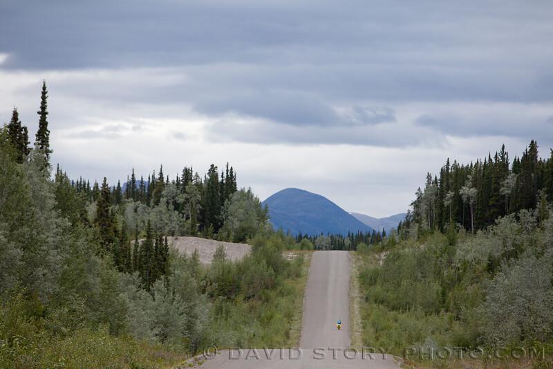 2010 07 15: The short steep hills of the Cassiar knock us back a peg. Beaverdam Lake, BC.