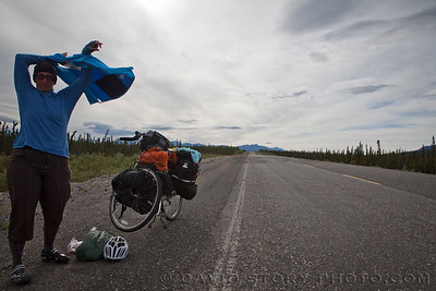 2010 07 03: Wind skills. Glenn Highway, AK.