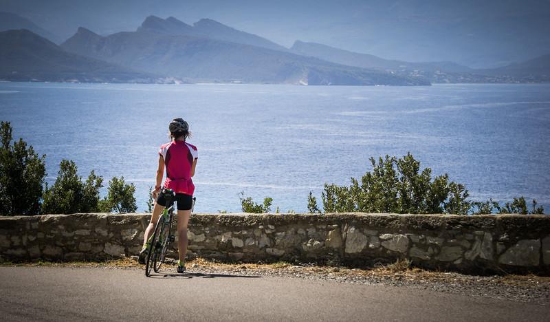 Pausing near Nonza, Cap Corse, Corsica, France