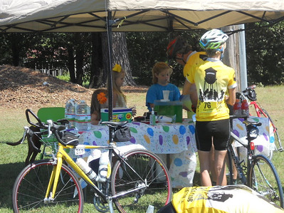 Kevin's niece always has a lemonade stand on our route, and HBC always stops to support her!