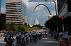 Racing in the shaddow of the Gateway Arch