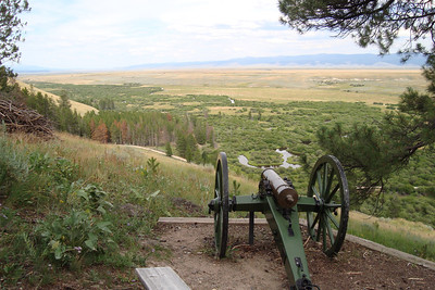 Howitzer showed up after the 7th Inf were surrounded in the trees below. Fired two shots then overrun.