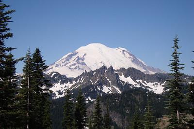 Mt. Ranier after an amazing twisty ride.