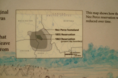 The ever shrinking Nez Perce land that led to the war of 1877 and one of the most brillant executed retrogrades in military history.