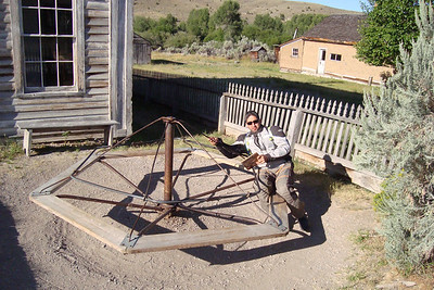 Uli: I  tried to stop him from hogging the Bannack kid's palyground, but NOOOOOOO, he had to give it a try.