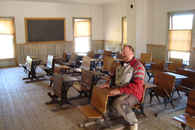 I'm so excited about getting an education.  Ouch, that one is so ugly that it should have been deleted. People who are this disrupting in class MUST be detained.  Off to the Bannack detention center with him (see next picture).
