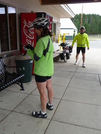 Shirley & Al at Mesabi Trail station Grand Rapids