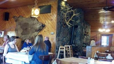 Pre-ride dinner at Forest Lake Restaurant