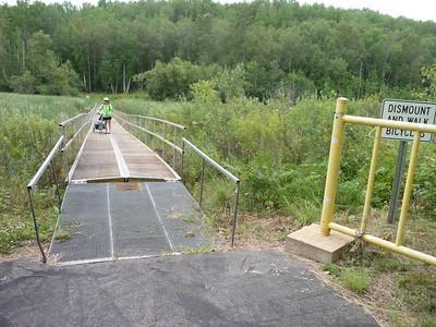 Bridge over a marshy area