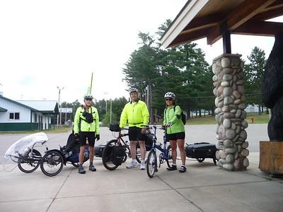 John, Al, & Shirley ready to ride