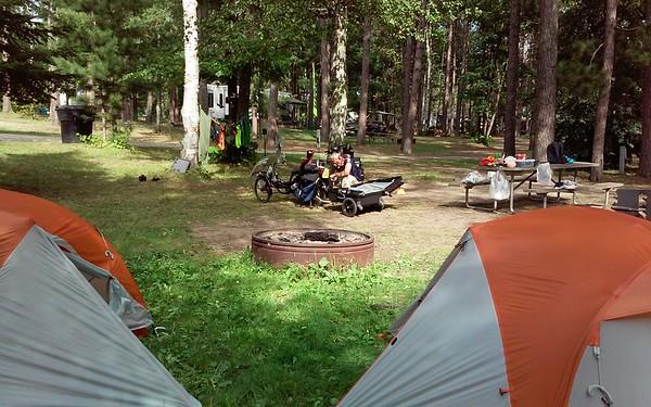 Camping at Eveleth Veteran's Park