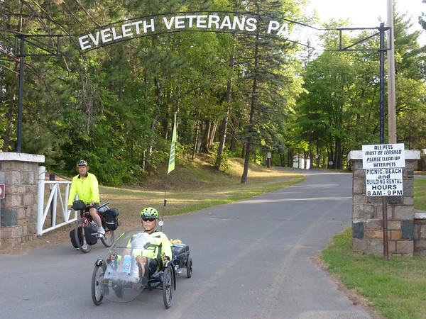 Leaving Eveleth Veteran's Park