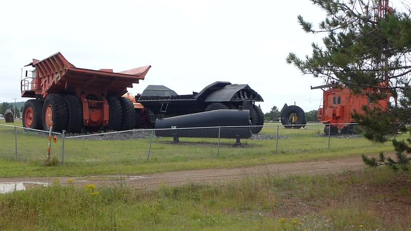 old mining equipment at Babbitt
