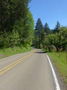 Logsden Road, a beautiful quiet road to bicycle on
