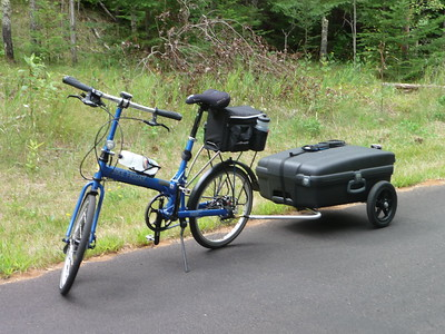 Bike Friday with suitcase trailer