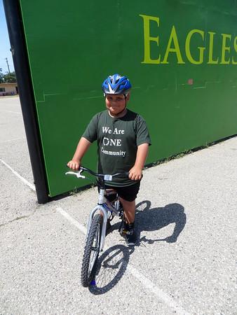 2nd grade bike education in PE (Spring 2016)